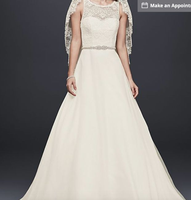 My wedding dress, i absolutely love it, adding sleeves!  Anyone else wearing a ball gown?? 5