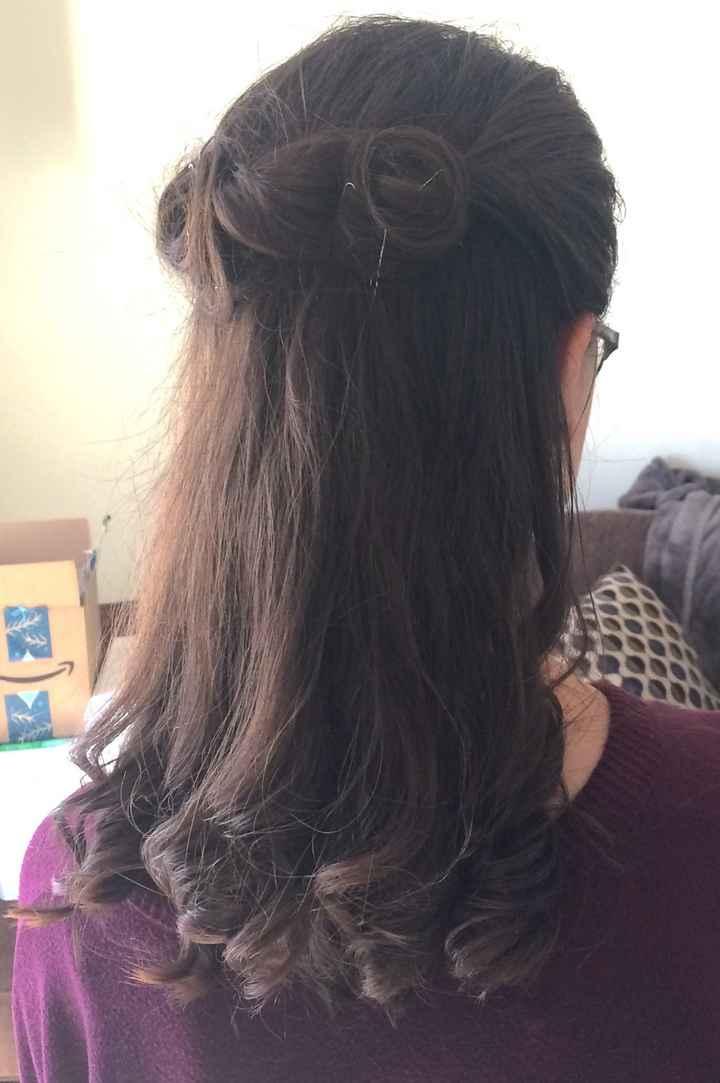 My wedding hair trial