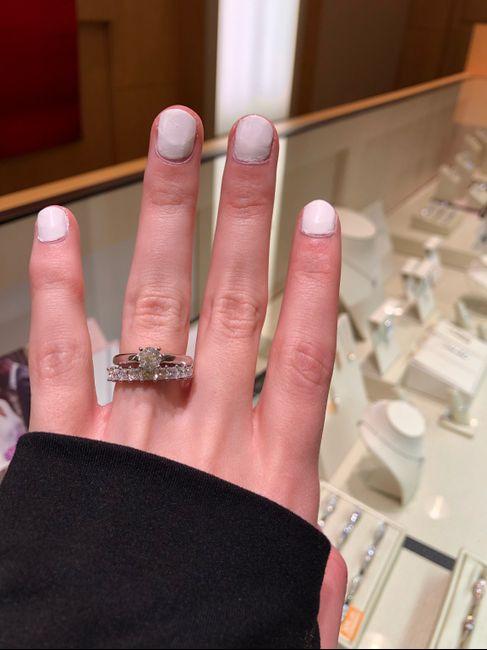 Big wedding band with dainty diamond? - 2