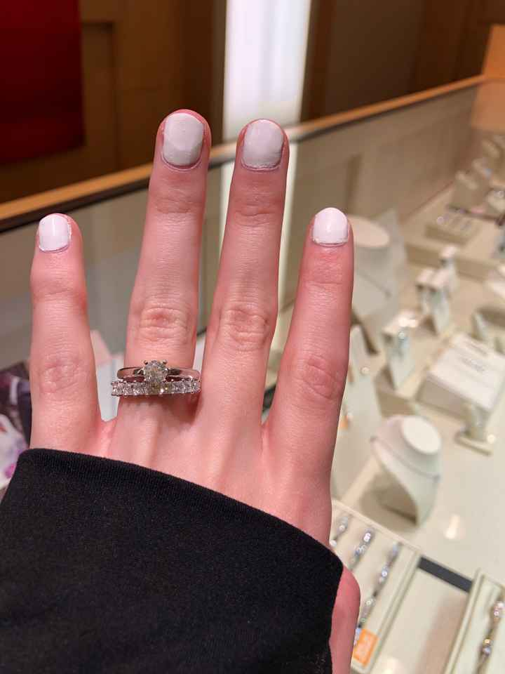 Big wedding band with dainty diamond? - 2
