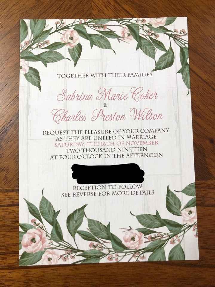 Invitation - Front