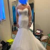 Drape sleeve dress - 1
