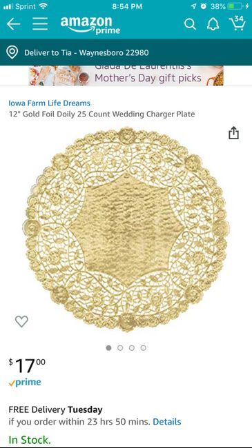 Doily chargers? 1