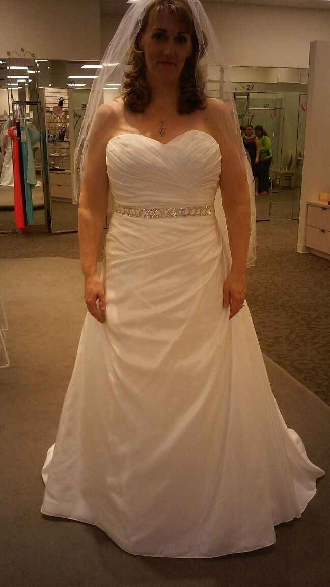 How much did you spend on your wedding dress?