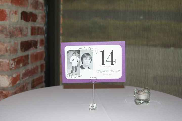 Table Numbers with Photos?  Narcissistic?