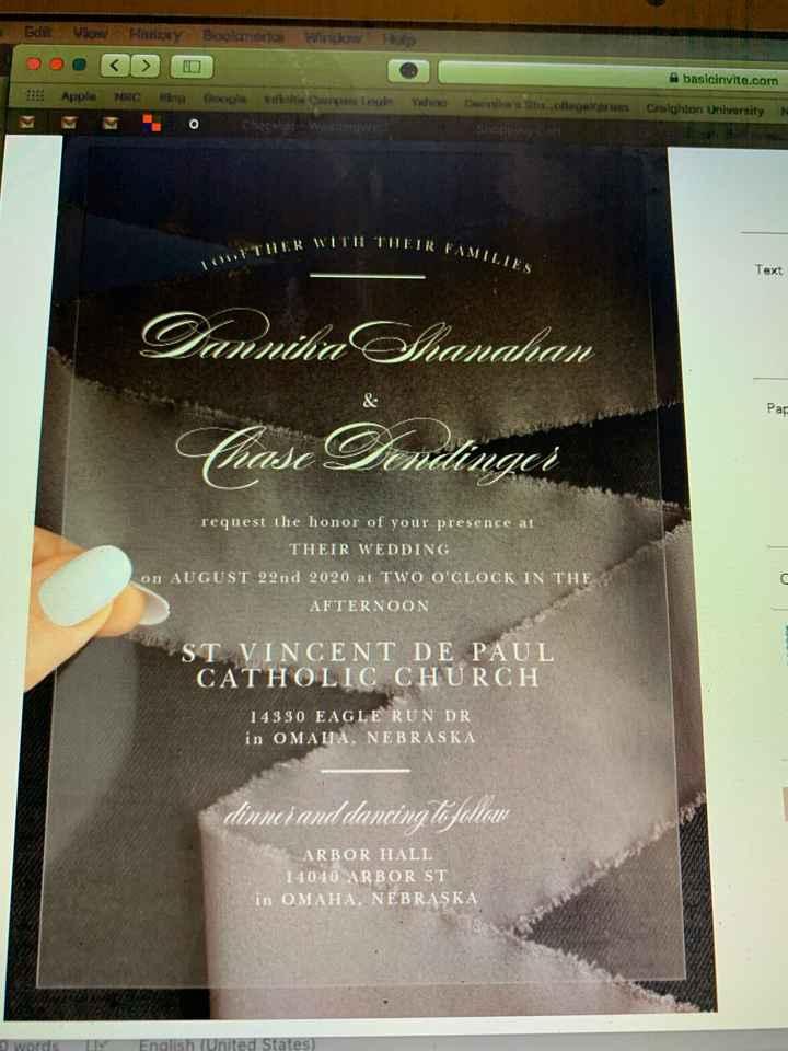 Acrylic Invites Recommendations - 1
