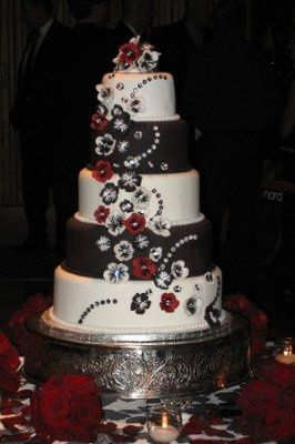 I NEED unique IDEAS FOR A RED, BLACK AND WHITE WEDDING?