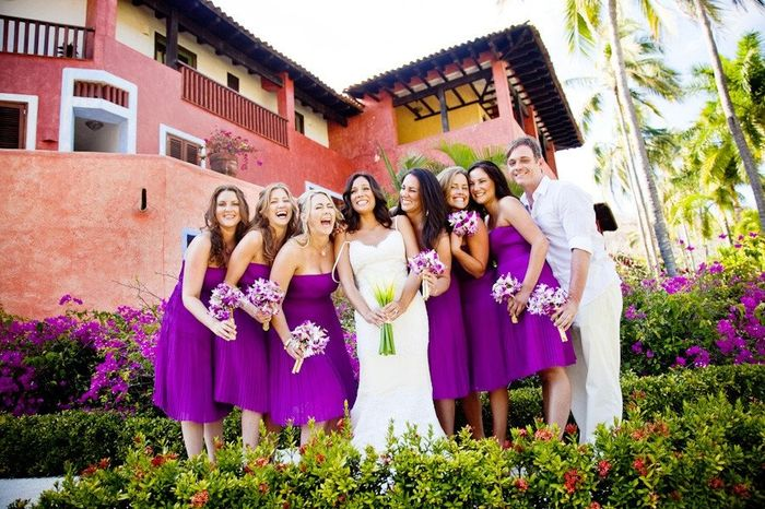 How to get dresses for out of town bridesmaids?