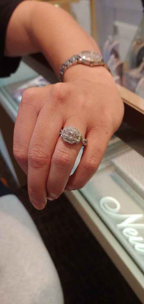 Is it ok to ask you for how many  ct's is your engagement ring? And for the price and brand? - 2
