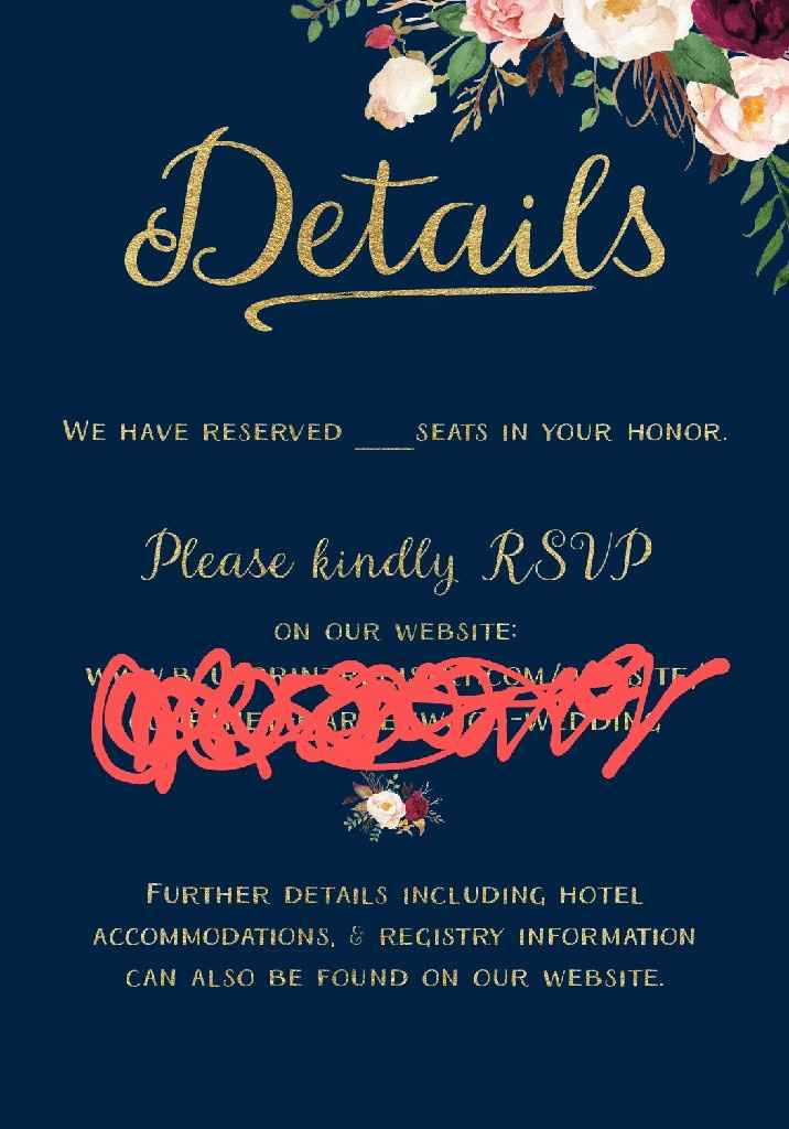 """Details"" section of my invites - 1"