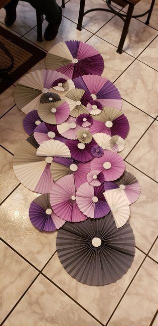 Paper Pinwheels For Our Cake Table Backdrop Weddings Do It