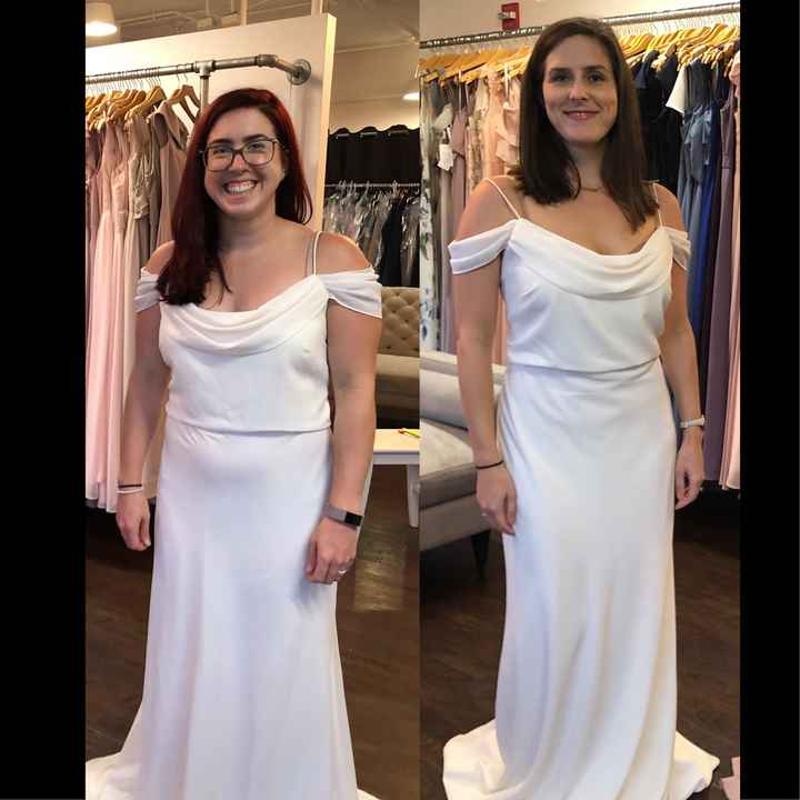What does your bridesmaids dresses look like? - 1