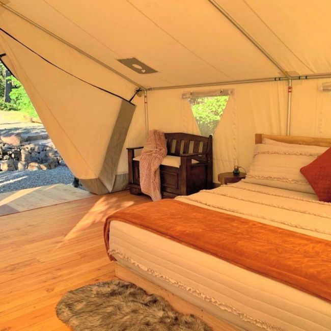 Secluded Glamping Honeymoon Booked 4