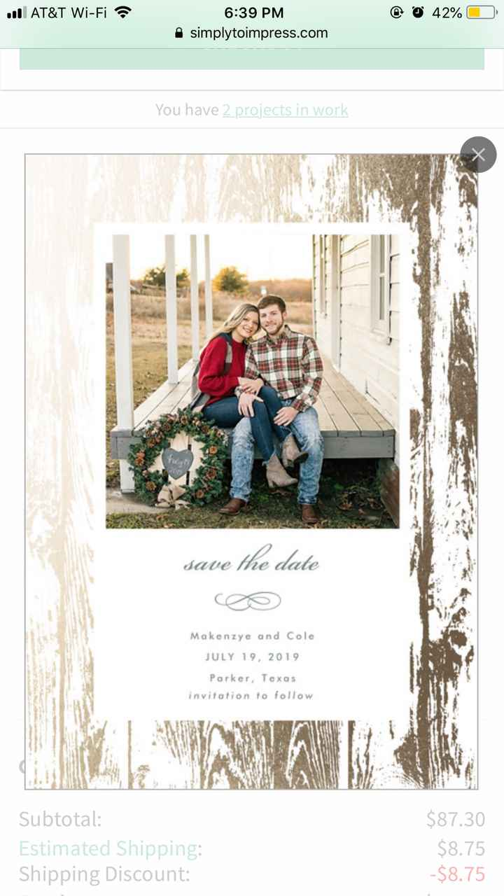 Would you all recommend getting save the dates/ invites online? - 1