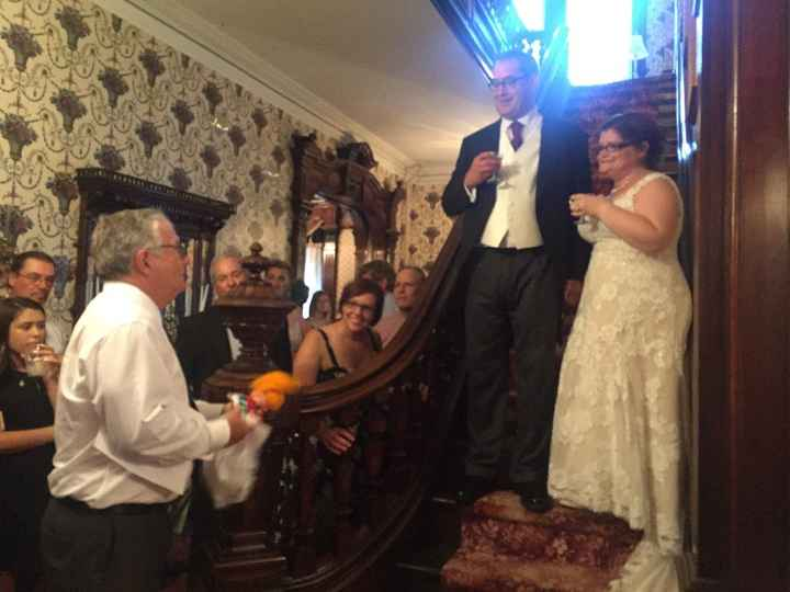 Dad giving his toast