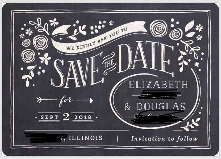 Let's see those save the dates! - 1