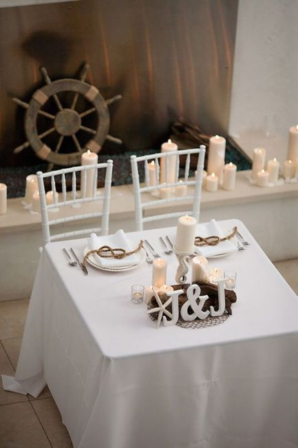 Mr and Mrs wedding table 2