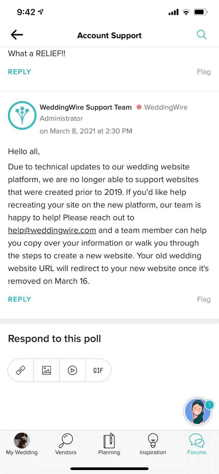 Missing wedding website?? - 1