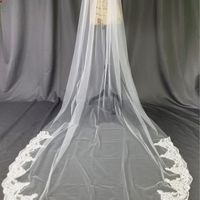 Cathedral veil with lace - 1
