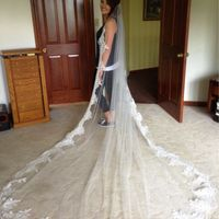 Cathedral veil with lace - 2