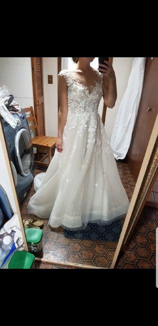 Help! Does my veil go with my dress? 4