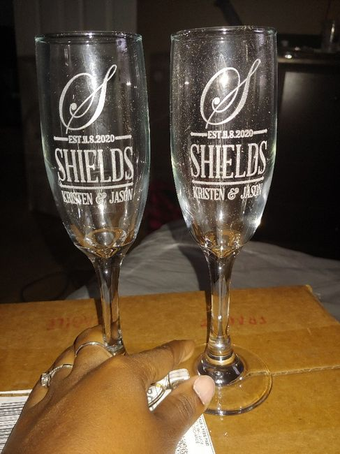 Champagne flutes in 1