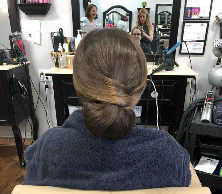 Hair trial today - 1