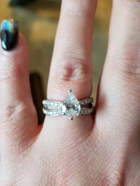 Pear/tear drop shaped rings 4