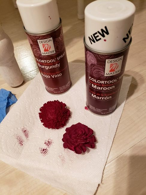 Acrylic Dye Suggestions for Sola Wood Flowers 3
