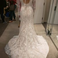 Picked up my dress today! 4 months out! Show me your wedding wins for the week! - 2