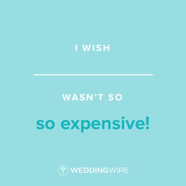 Fill In The Blank: I wish _____ wasn't so expensive! 1