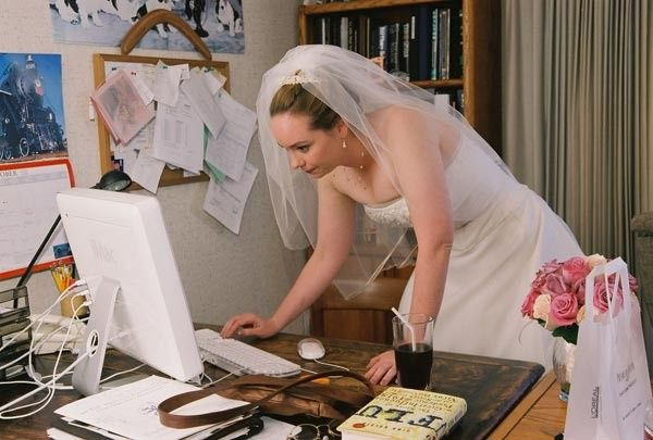 Never have I ever... planned my wedding at work 1