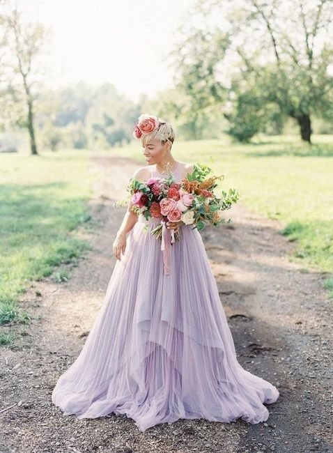 Wedding Dress - White or Colorful? 2