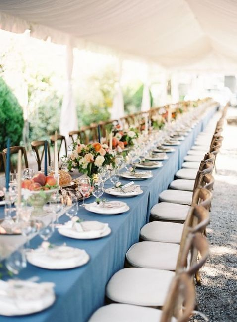 Table Linens - White or Colorful? 2