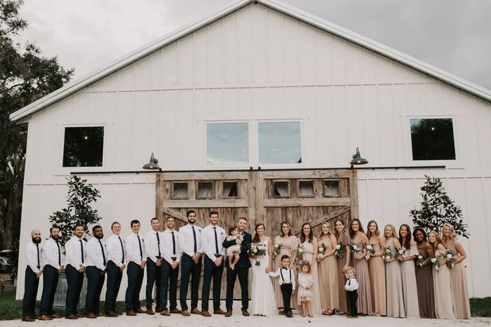 Who's the shortest member of your wedding party? 1