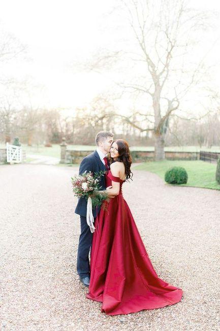 Wedding Dress - Red, White or Blue? 1