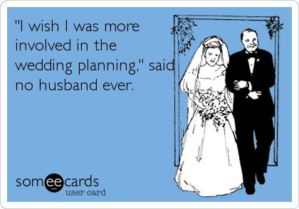 My fiancé(e) is as involved in planning as I am - true or false? 1