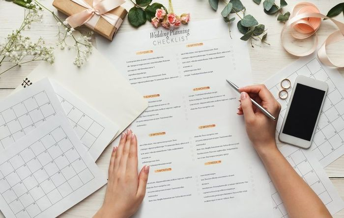 When did you actually start wedding planning? 1