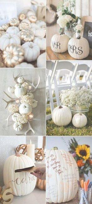 Fall classy pumpkin or White Ivory Theme 4