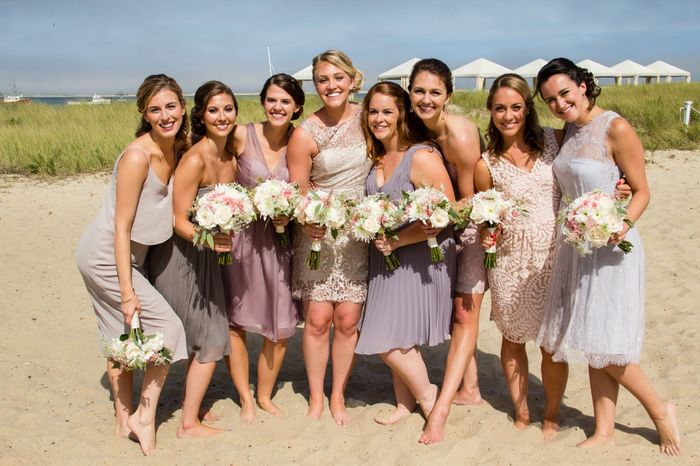 Mismatched bridesmaid dress examples? 13
