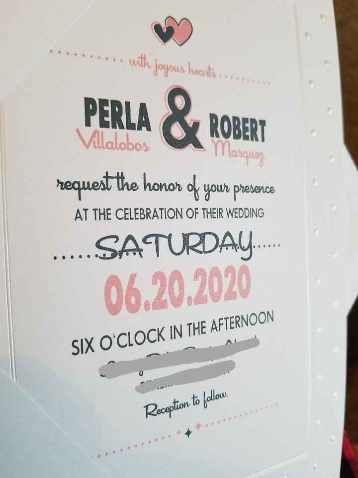 Wording the date on the invite - 1