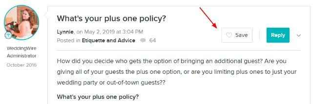 Save Forum Discussion to Favorites