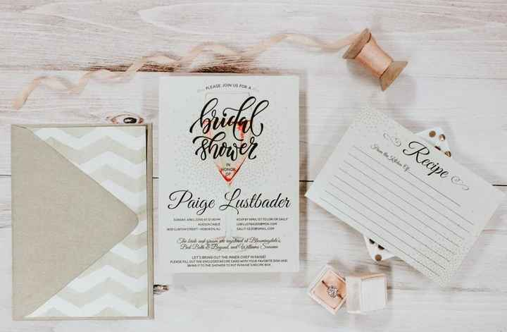 Bridal Shower Invitations with Recipe Card
