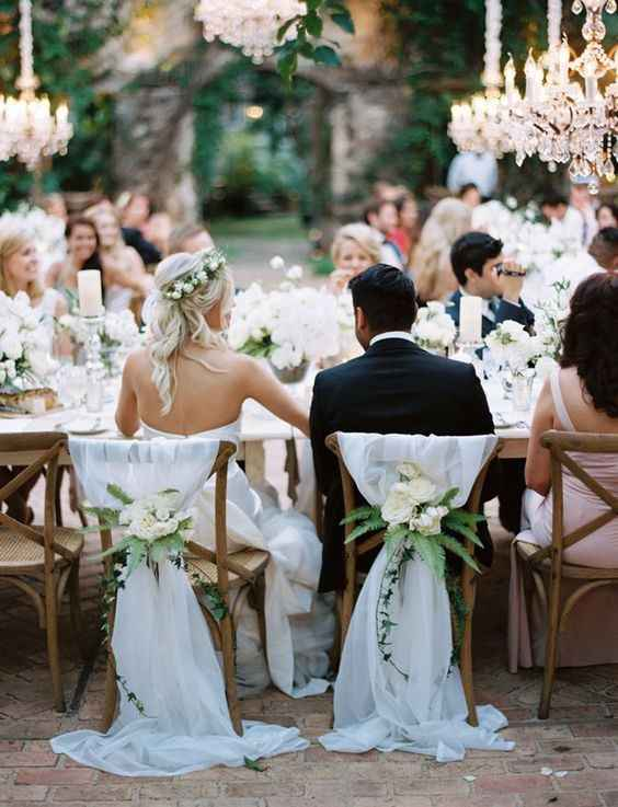 Bride and Groom Seated at Reception