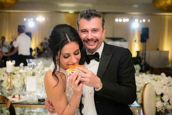 Bride Eating Hamburger