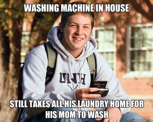 Mom still does laundry meme