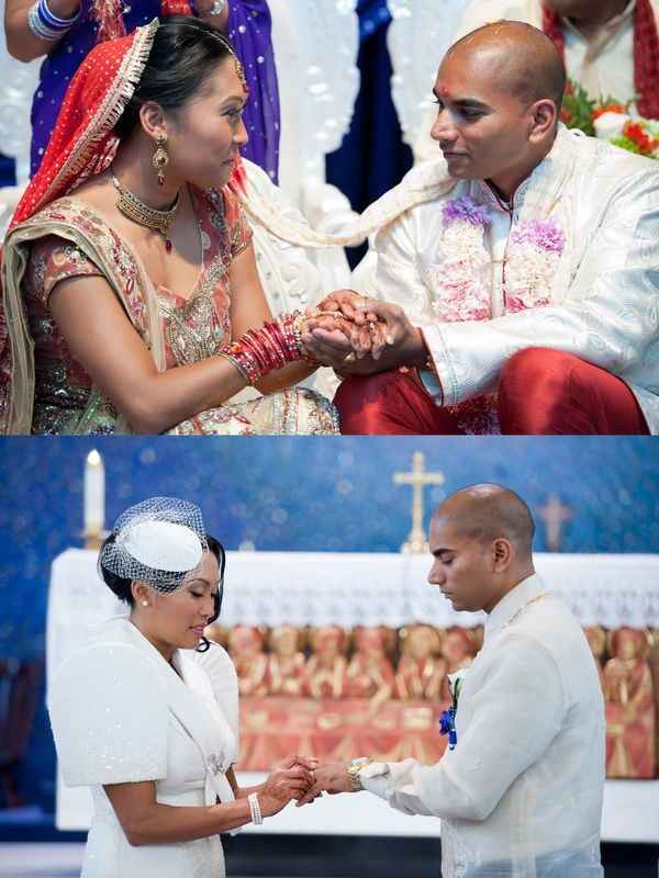 Interfaith Wedding - Vindu and Catholic Ceremonies