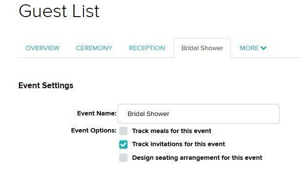rsvp for bridal shower through weddingwire website 1