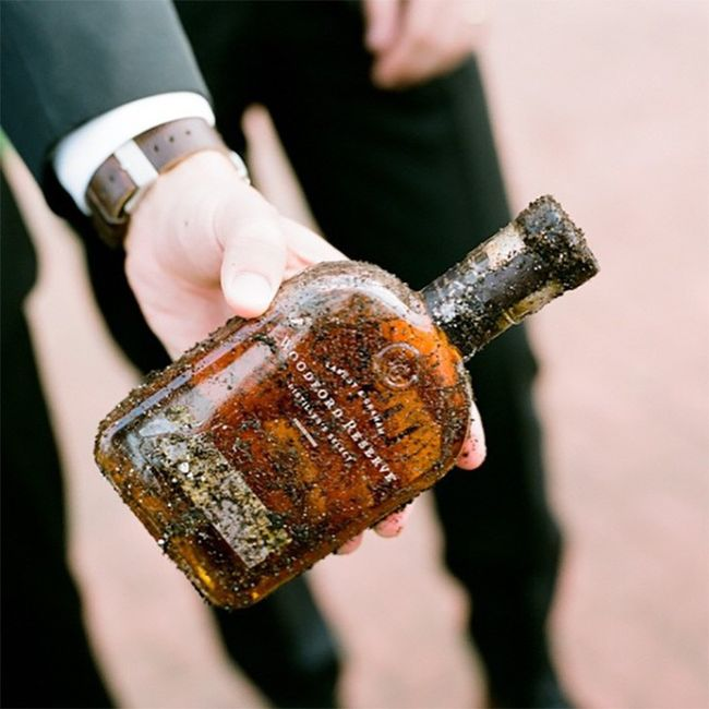 Wedding Superstitions - Burying the Bourbon! 1