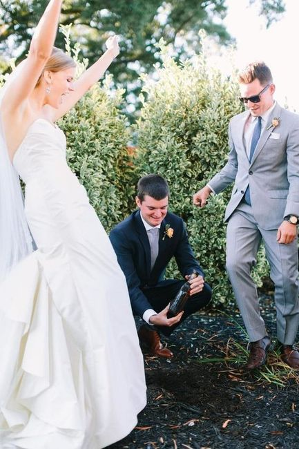 Wedding Superstitions - Burying the Bourbon! 2